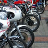 Line of classic Race Bikes