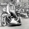 PKT3277 - 232090<br /> <br /> 1956<br /> <br /> Isle of Man TT Racing. P V Harris of England followed by J Hillebrand of Germany during the race.