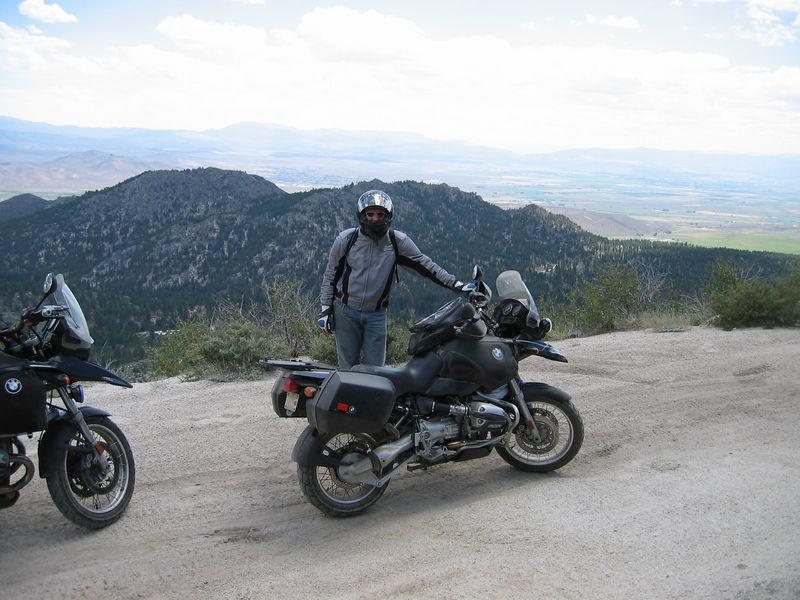 Nachtflug and I, somewhere near Lake Tahoe.
