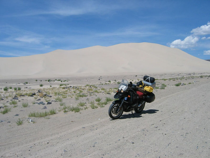 Sand dune mountain thing in Nevada.