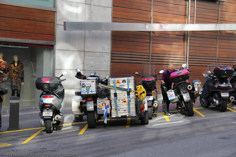 2013. Tight parking in Andorra.