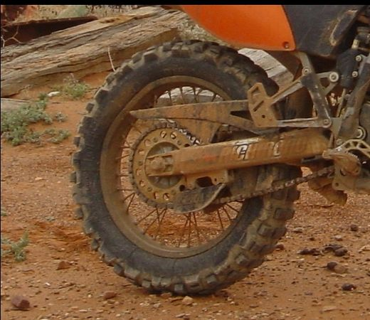 Square KTM rim but still rode another 1500Kms on it