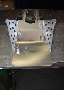 Finished skid plate
