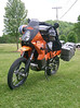 Randy Nissen's KTM 950 with Piaa aux light kit