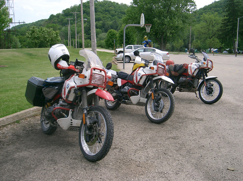 Three 1990 Paris Dakar bikes in one small rally. I knew all three of the owners and had to get them together for a picture.