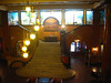 Lobby of the Gadsen hotel in Douglas. The stained glass window is by Tiffany.