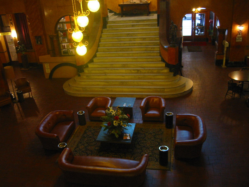 It's an old hotel with some history.  Supposedly Pancho Villa rode his horse up the stairs. I guess that was before they got the elevator working.