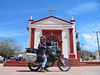 The Prof stopped by this church to say a few rosaries and light some candles to the patron saint of cold starting motorcycles in prep for Yecora.  Note the Tany Hawk digital helmet cam.