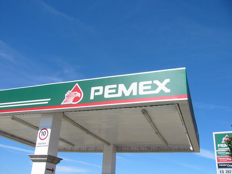 I think it's called Pemex because it's in Mexico and you always take a pee while you're there.  Cleaner restrooms than the US has.