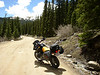 '03 GS Adv heading up fire road in Westcliffe