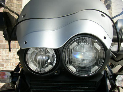 Cee Baily sheild and headlight covers '03 GS Adv