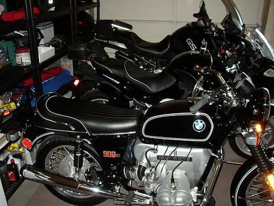 3 BMWs, '76 R90/6, '03 K1200RS, '03 R1150GS Adventure
