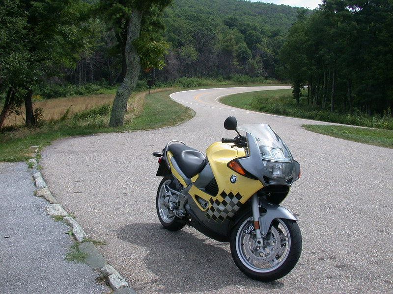 One of my favorite standing shots of my K12RS.  I believe this was on the road to Naked Mountain Vineyards, in VA.