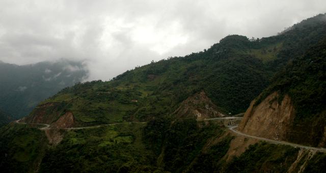 Road through the Amazon rain forest