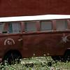 Autobus de Seguridad del Museo de Maria Reiche, conocedora de las Lineas de Nazca - Peru.  20-01-10.