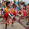 Bailarines en plena danza en Parque de la Exposicion. Lima.
