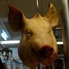 Venta de cabeza de cerdo, agradable para mucha gente por los CHICHARRONES.