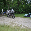 I rode out two severe thunderstorms in my tent at this campsite in Illinois.