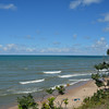 Lake Michigan shoreline from Glenn, Michigan.