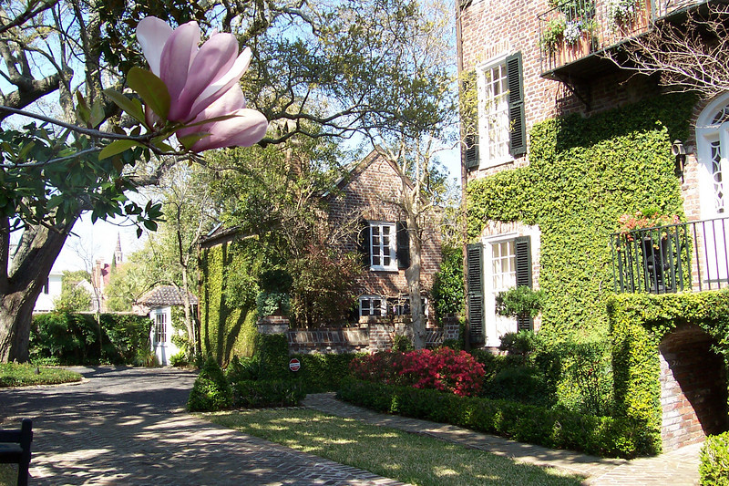 As here. I really liked this property, warm brick construction in harmony with its small yard, ivy and flowers