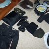Riding gear, including rainsuit, summer & winter gloves, etc.