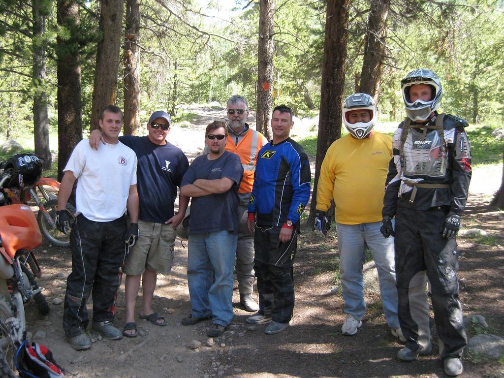 The crew at the bottom of Taylor pass.  Cody, Dutch, Toby, Karst, Scott, Alberto and Anton.