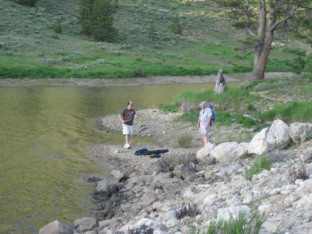 Balt and Jim fishing.