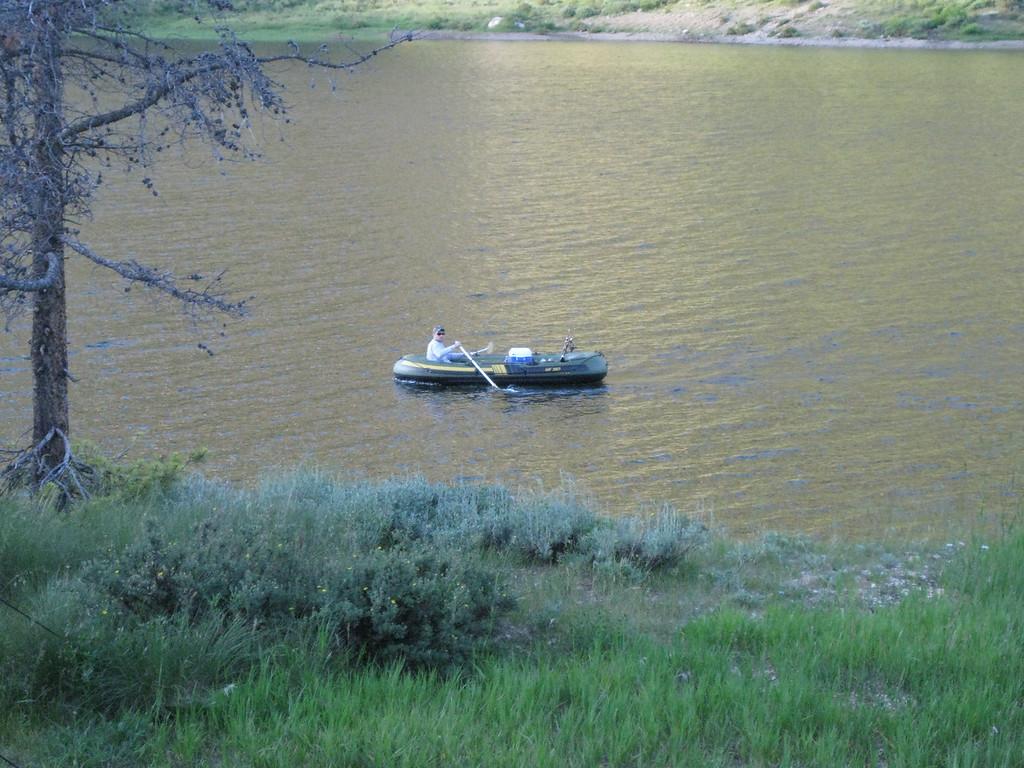 Joe coming in on the raft.