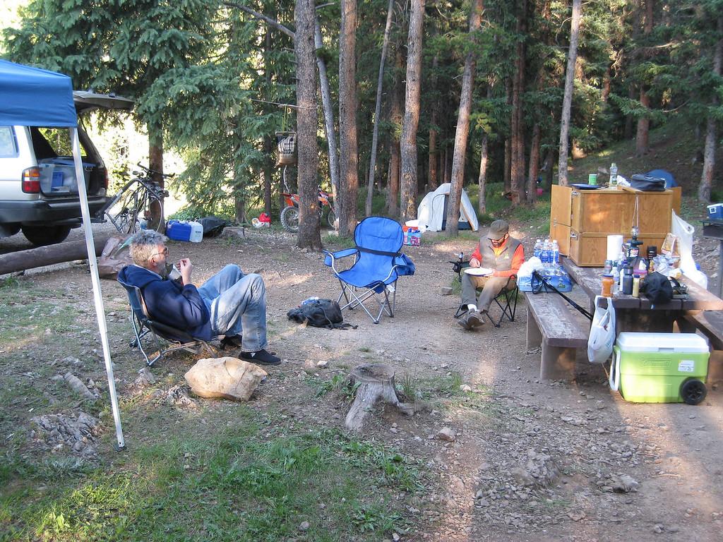 Bob chillin at the camp spot