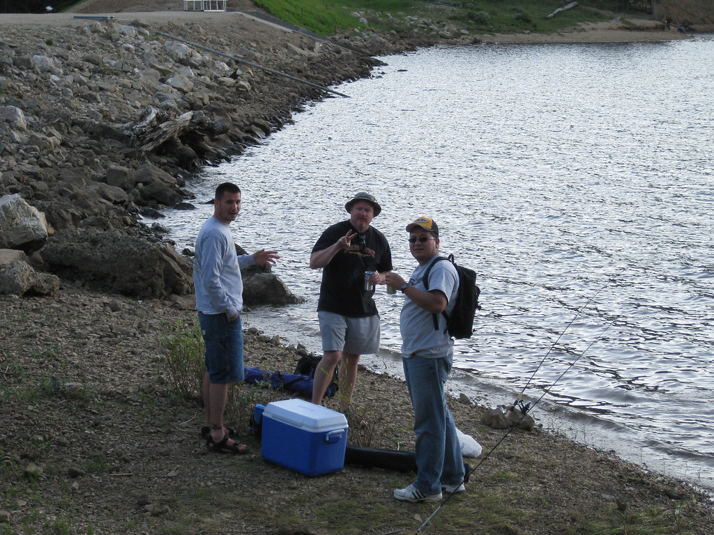 Joe, Jim and Baltazar fishing