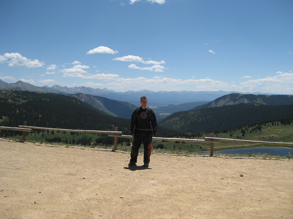 Cody on top of Taylor pass