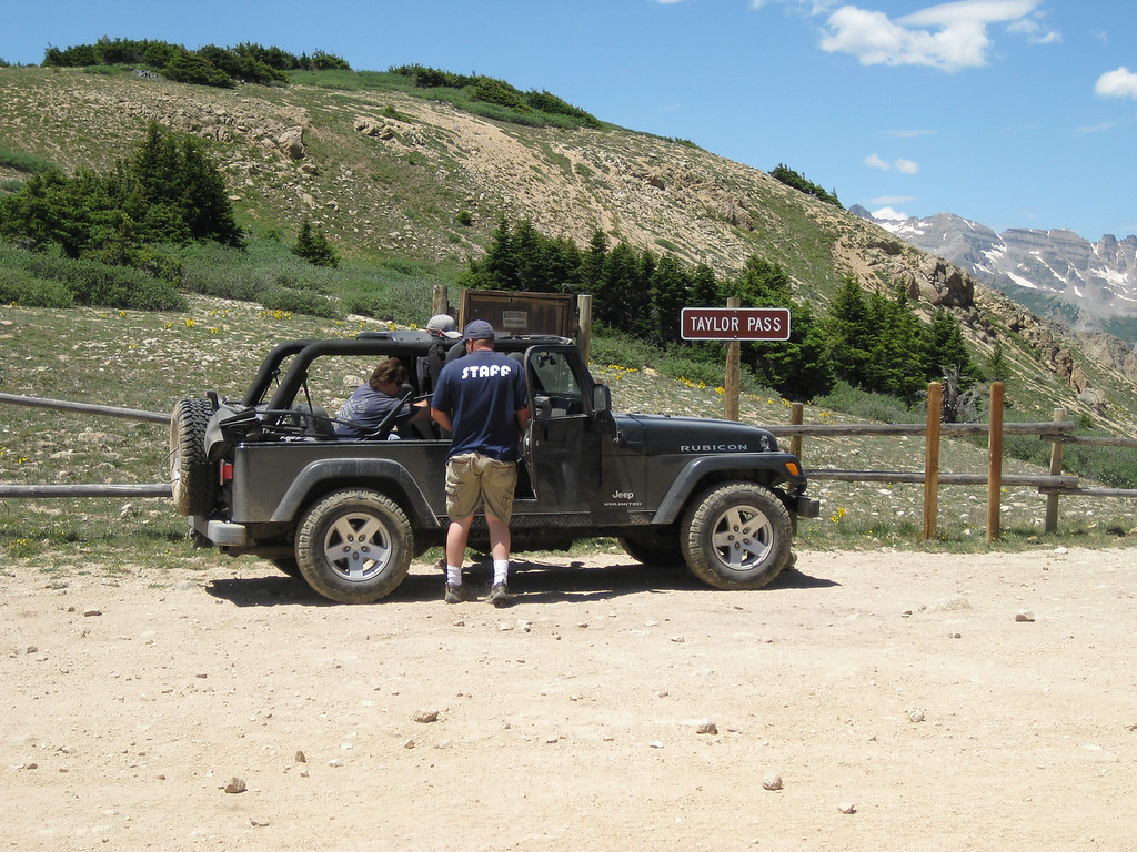 Bear, Dutch and Cody came up the pass in Bear's jeep.
