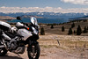 04-23-2011 A spring day finally arrives. First long ride for my Strom in 2011. Here she is above Flathead Lake and Elmo, Montana.
