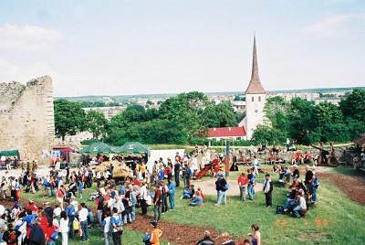 Coach tour to Medieval display at Racvere Castle, FIM Rally, Tartu, Estonia, 2005