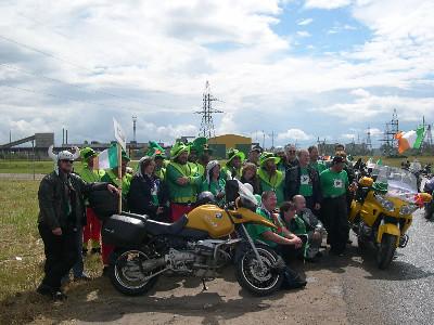 Irish team group photo before Parade of Nations, FIM Rally, Tartu, Estonia, 2005
