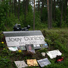 Joey Dunlop's death crash site memorial, near Tallinn, Estonia 2005