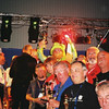 Eric Holland at back of Club Prize Winners,, FIM Rally, Tartu, Estonia, 2005