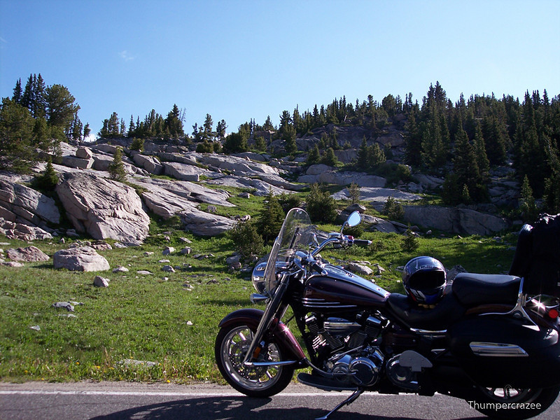 Coming down from the summit of the Beartooth Hwy in Montana.