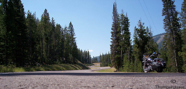 Winding roads, blue skies, and a Stratoliner. This was taken along the Polaris Road enroute to Wise River, Montana