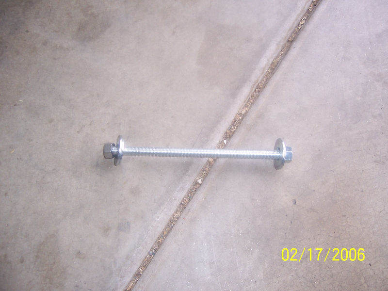 """I bought either 1/2"""" or 5/8"""" threaded bar 12"""" long at Home Depot and got two matching nuts and 2 pair of large washers.  The largest washer pair was about 2"""" in diameter and works well for driving in the lower race.  The next smaller size almost worked to drive the top one in but was slightly too small so I had to use the old split race with the above tool to drive the upper race all the way in. The races must be driven past flush or the above tool would have been sufficient."""