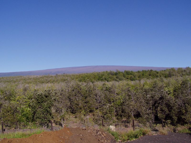 Mauna Loa from the truck pull out on Hwy 11.