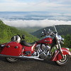 Indian on the way to Tulsa via the Blue Ridge Parkway July 2016