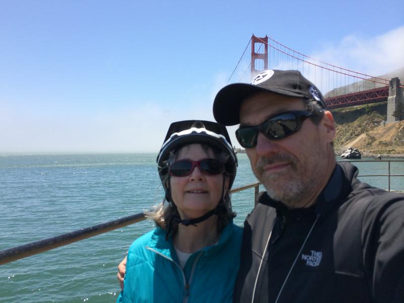 North side of Golden Gate Bridge 2014