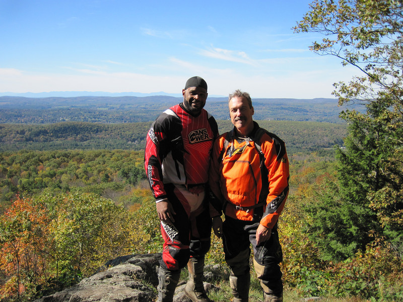 9 years later at the same spot, the Lookout at BearTown St Forest Oct 2012 with Armando.