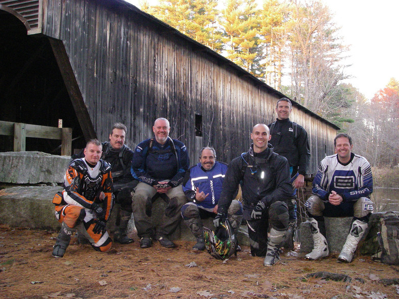 The crew.  Riding out of Jeffs place in Maine.