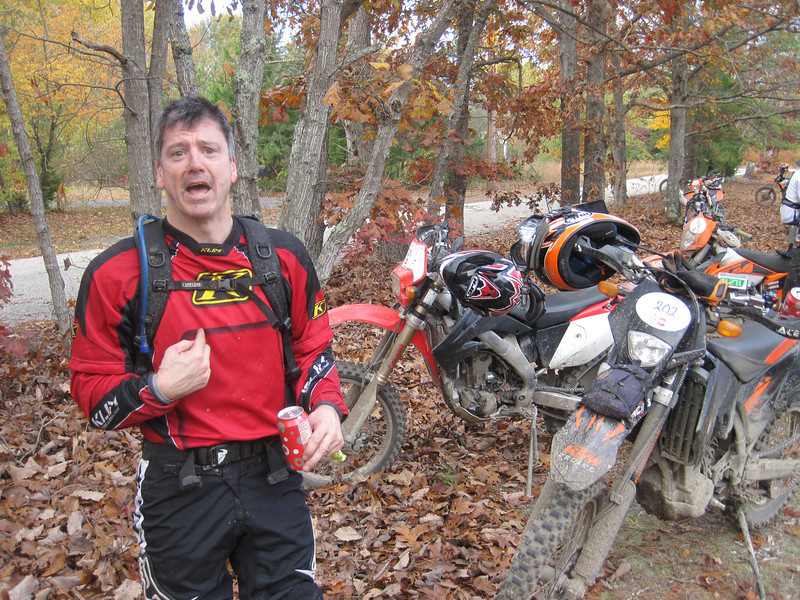 "Jim at the Hammer Run 2013.  ""No damn KTM rider is going to tell me to get outta the way!"""