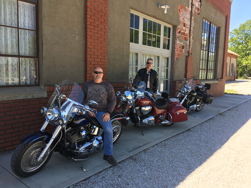 John and I on a Pre Sturgis ride in Kansas.