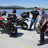 Fathers Day weekend 2012, crossing the Ft Ticonderoga Ferry with Dave and Dan