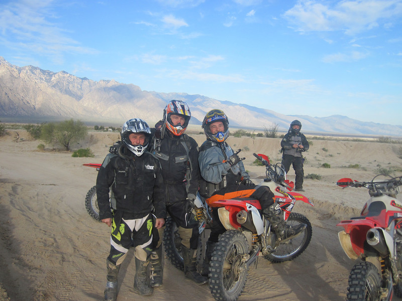Near ElDiablo in Baja with the cousins Donovan and Steve.