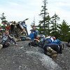 "Sat ride to the top survivors immediately after arrival at ""the top""."